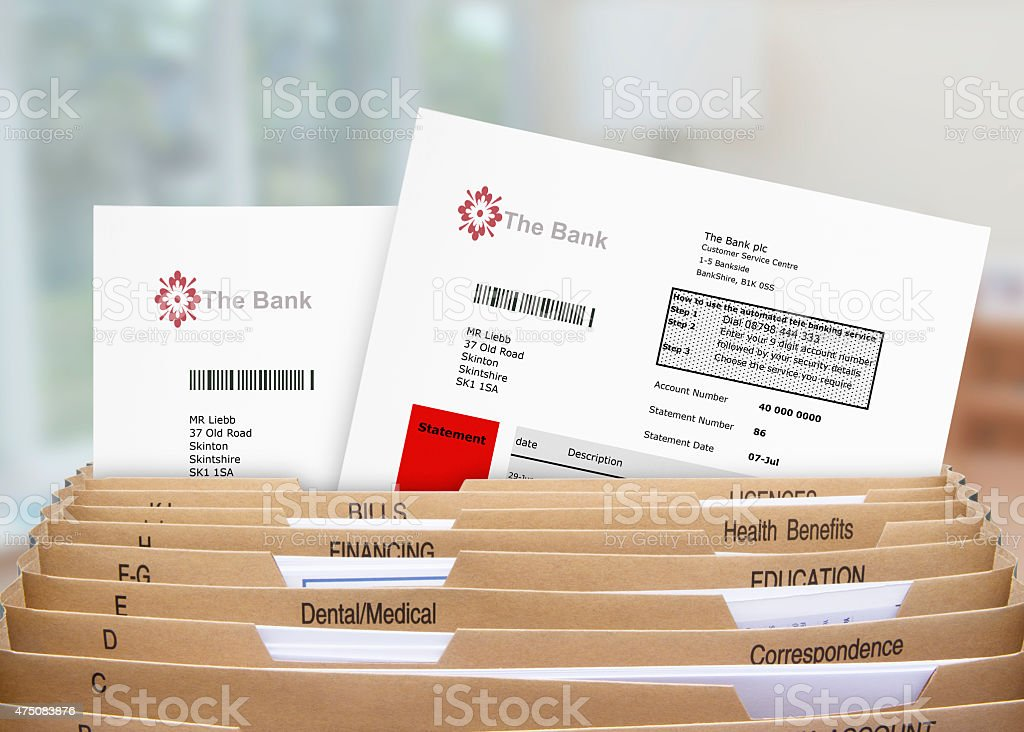 Home Filing Dividers stock photo