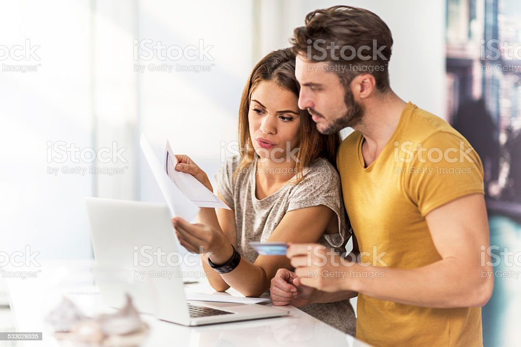 Home finances. stock photo