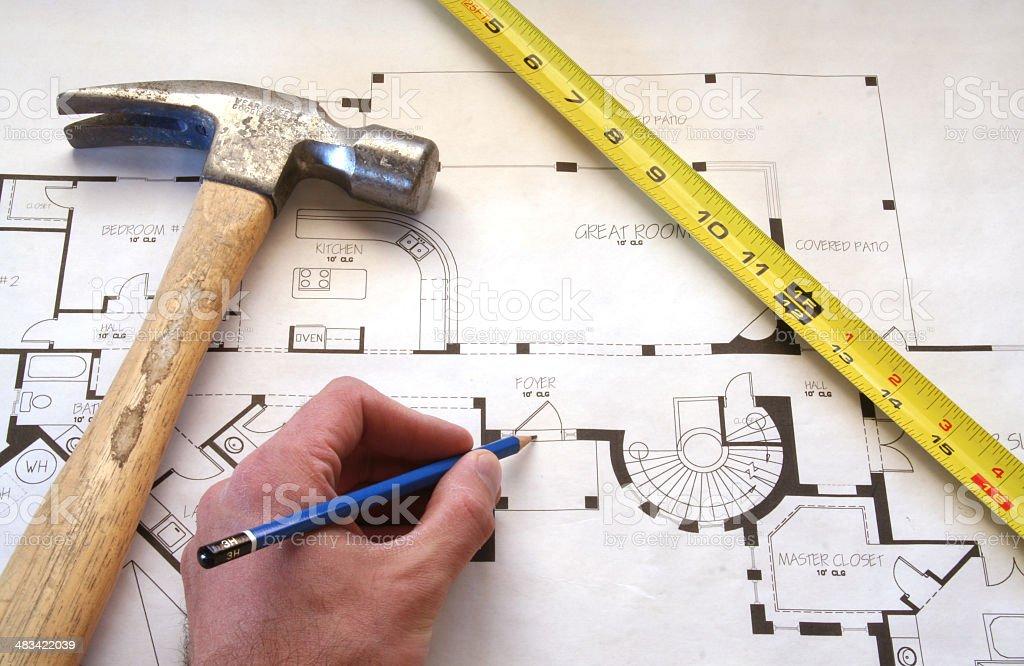 Home Floorplan Design stock photo
