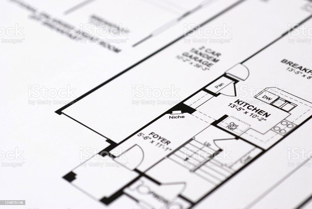 Home floorplan royalty-free stock photo