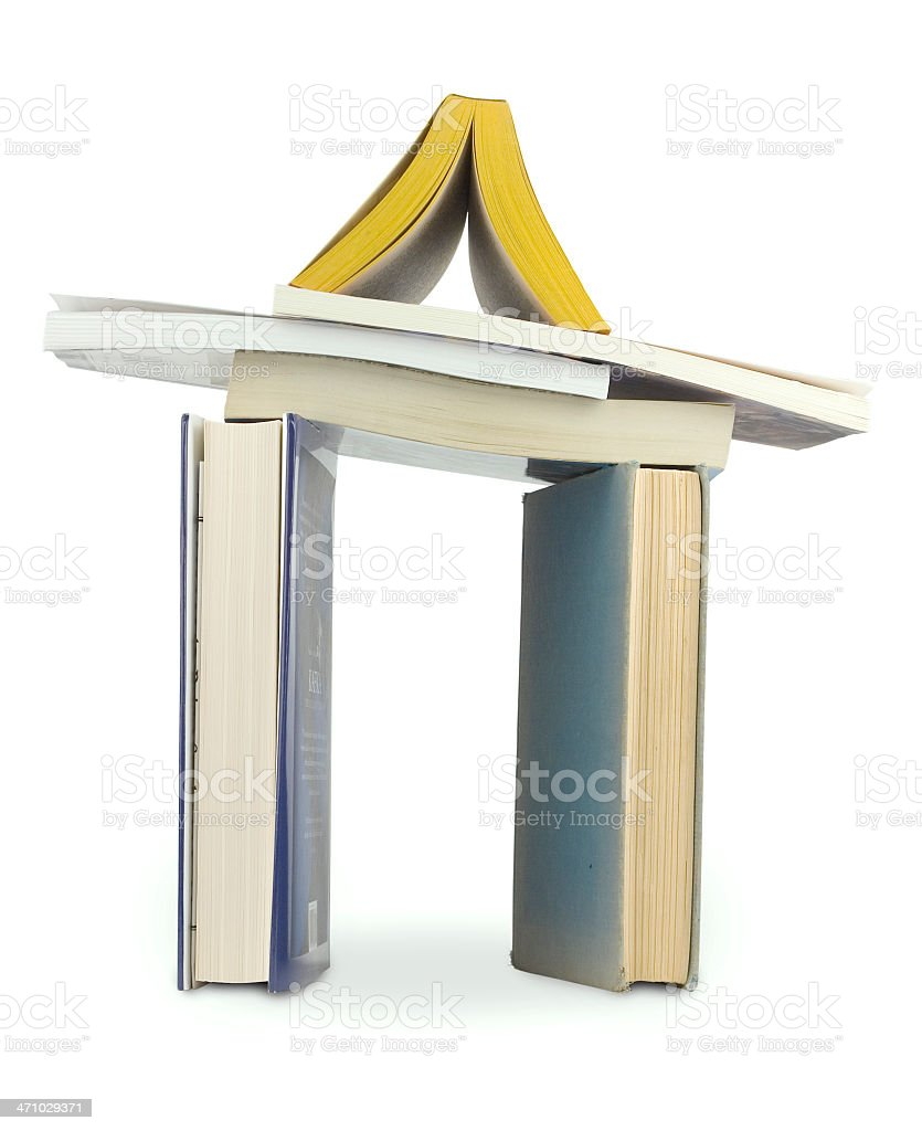 Home for Books (with clipping path) royalty-free stock photo