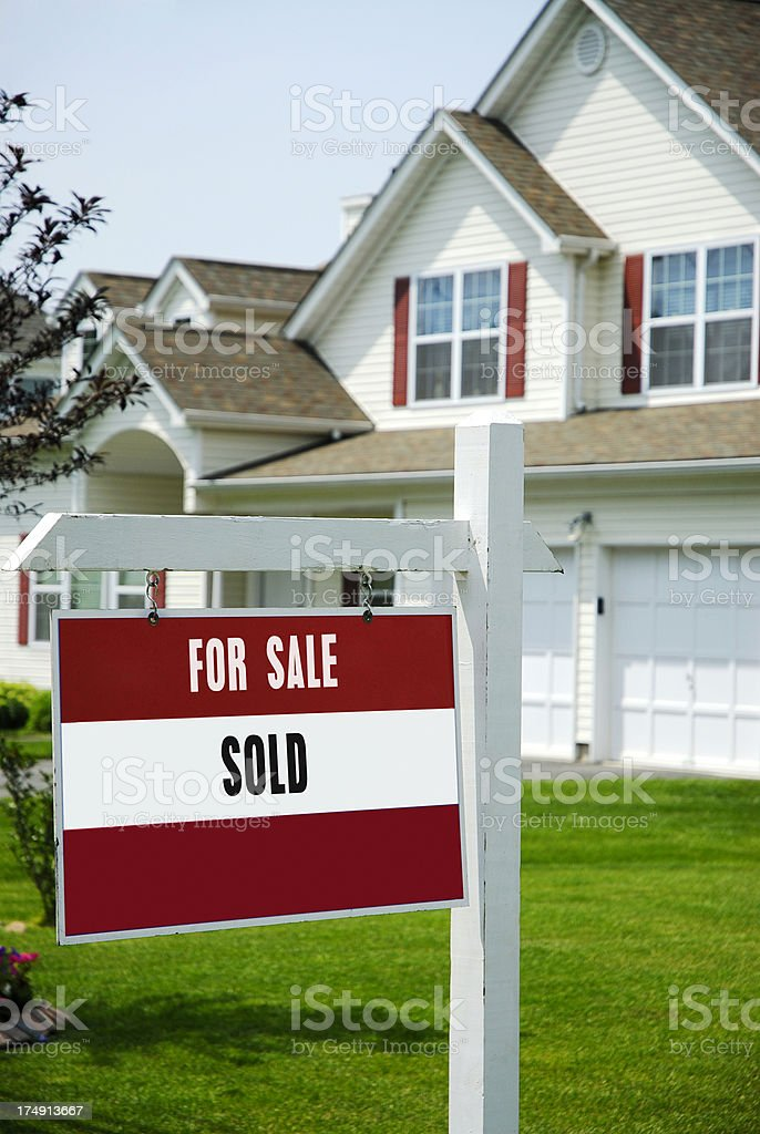 Home for Sale stock photo
