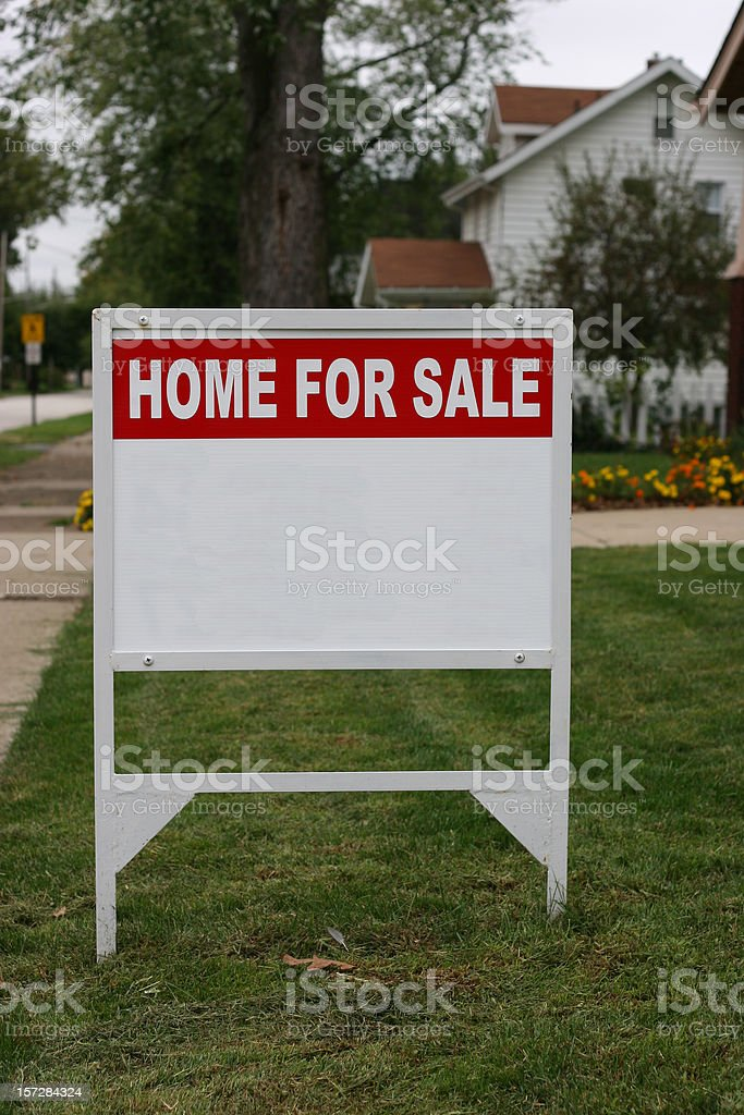 Home For Sale Sign Vertical royalty-free stock photo
