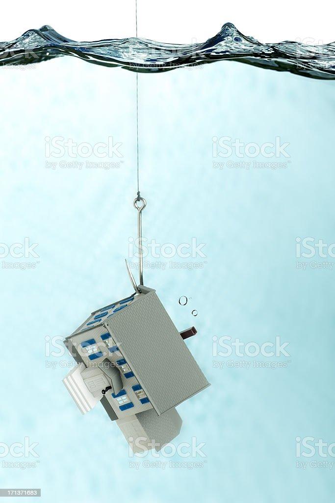 Home Foreclosure stock photo