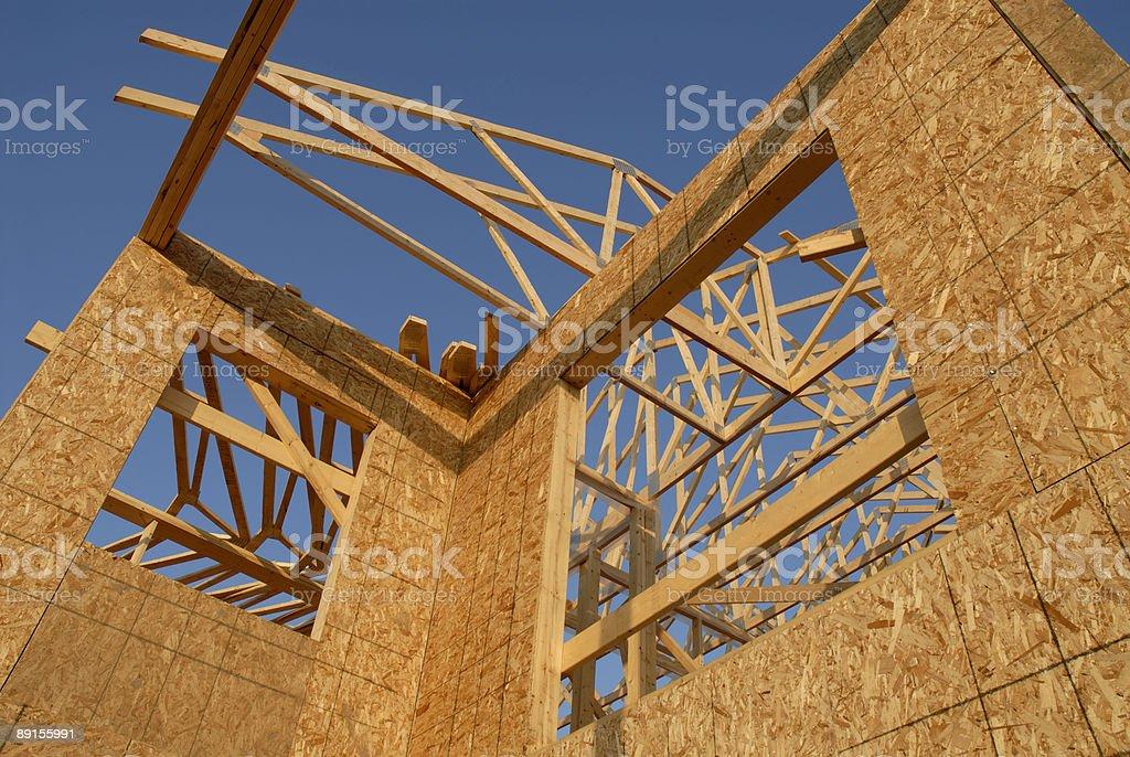 Home framing stock photo