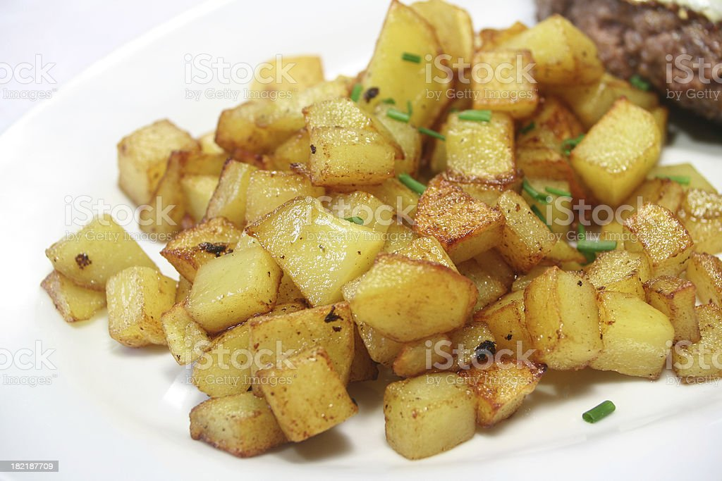 Home Fries royalty-free stock photo