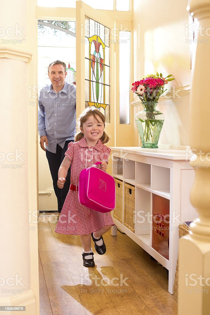 home from school royalty-free stock photo