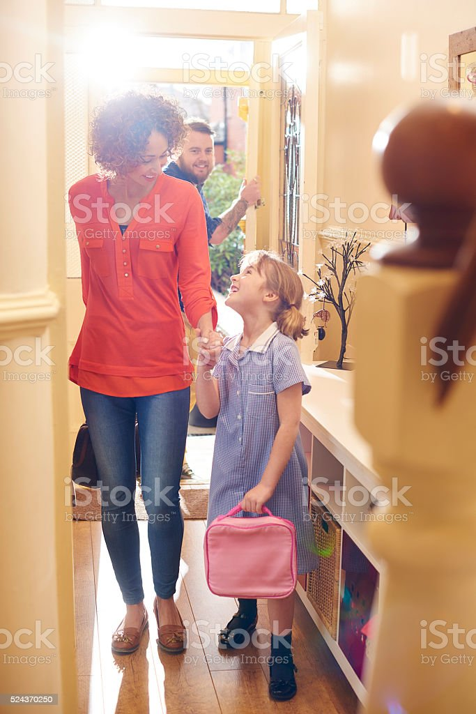 home from school stock photo