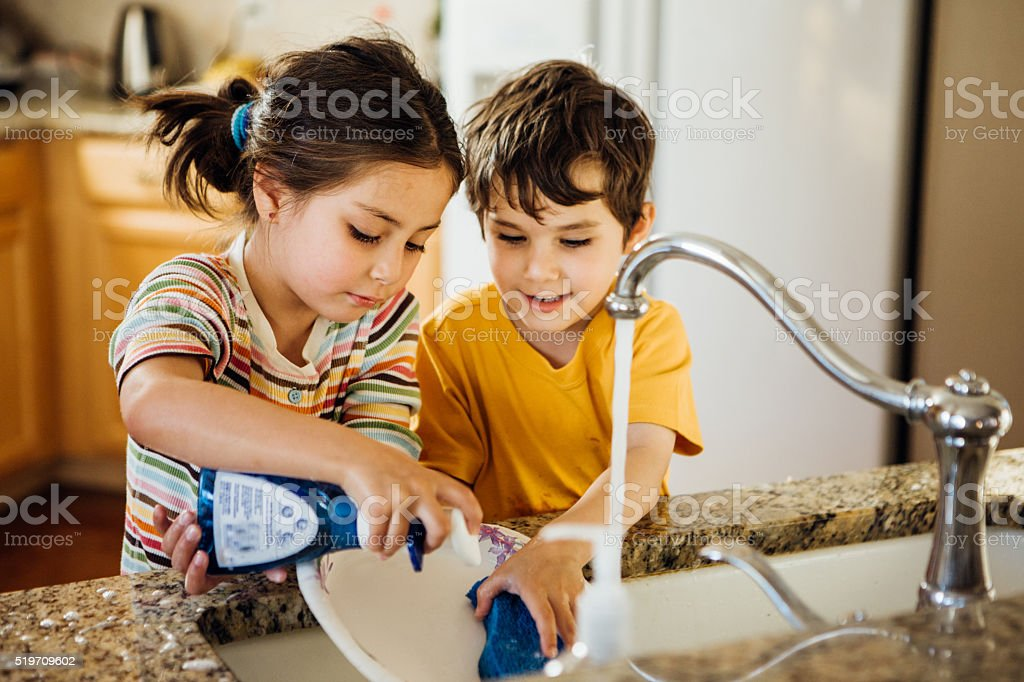 Home fun for kids stock photo