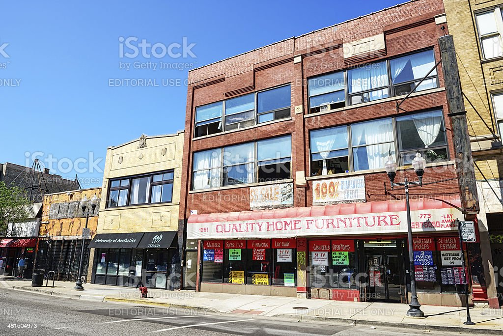 Home  Furniture store in Wicker Park,  Chicago stock photo