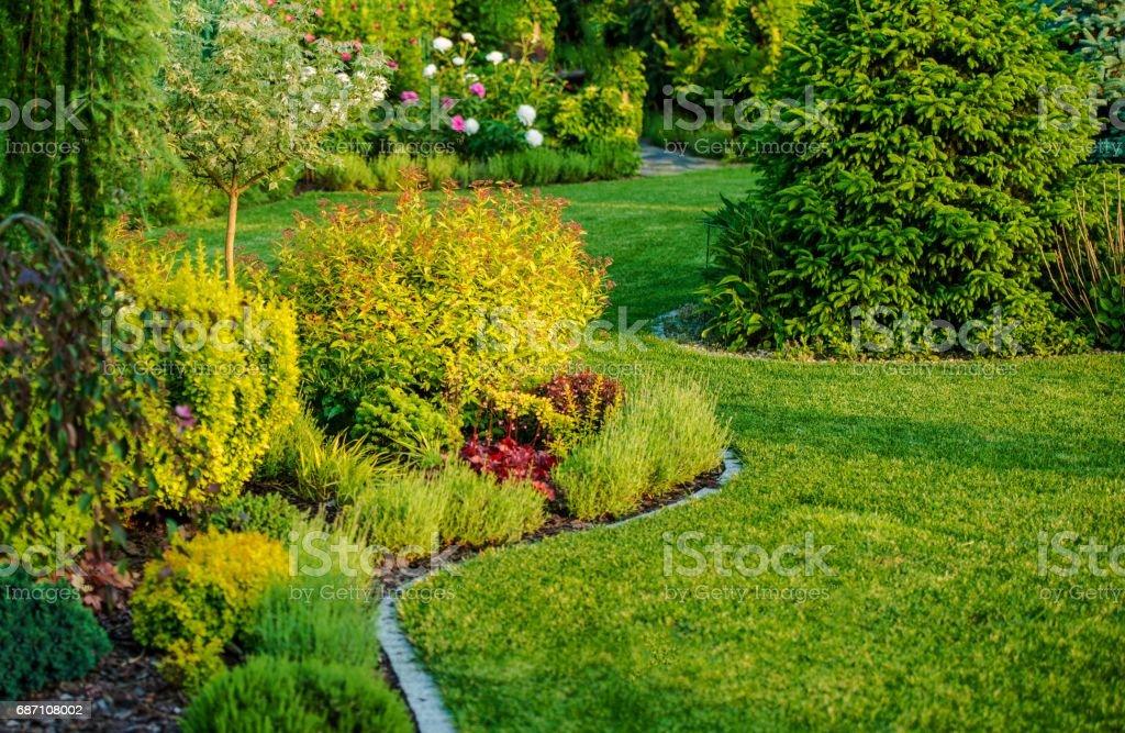 Home Garden Design stock photo