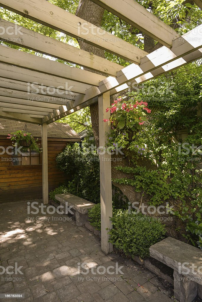 Home garden in summer time royalty-free stock photo