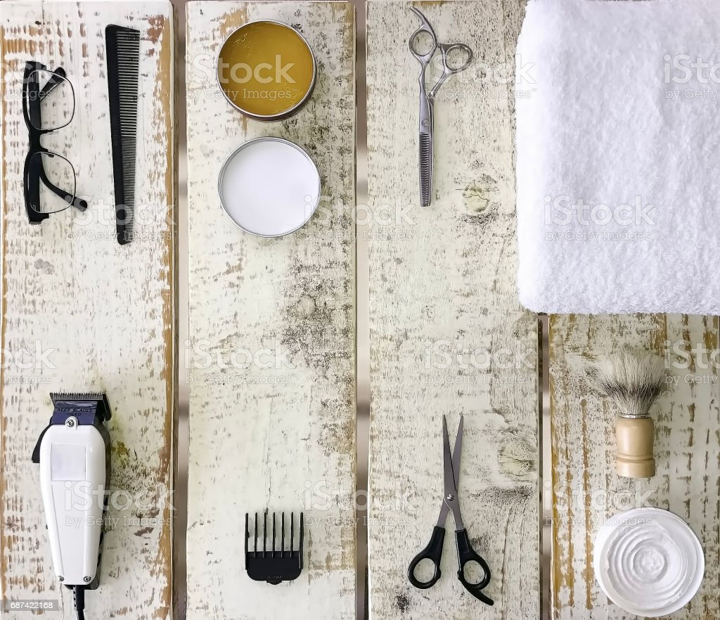 Home grooming kit. stock photo