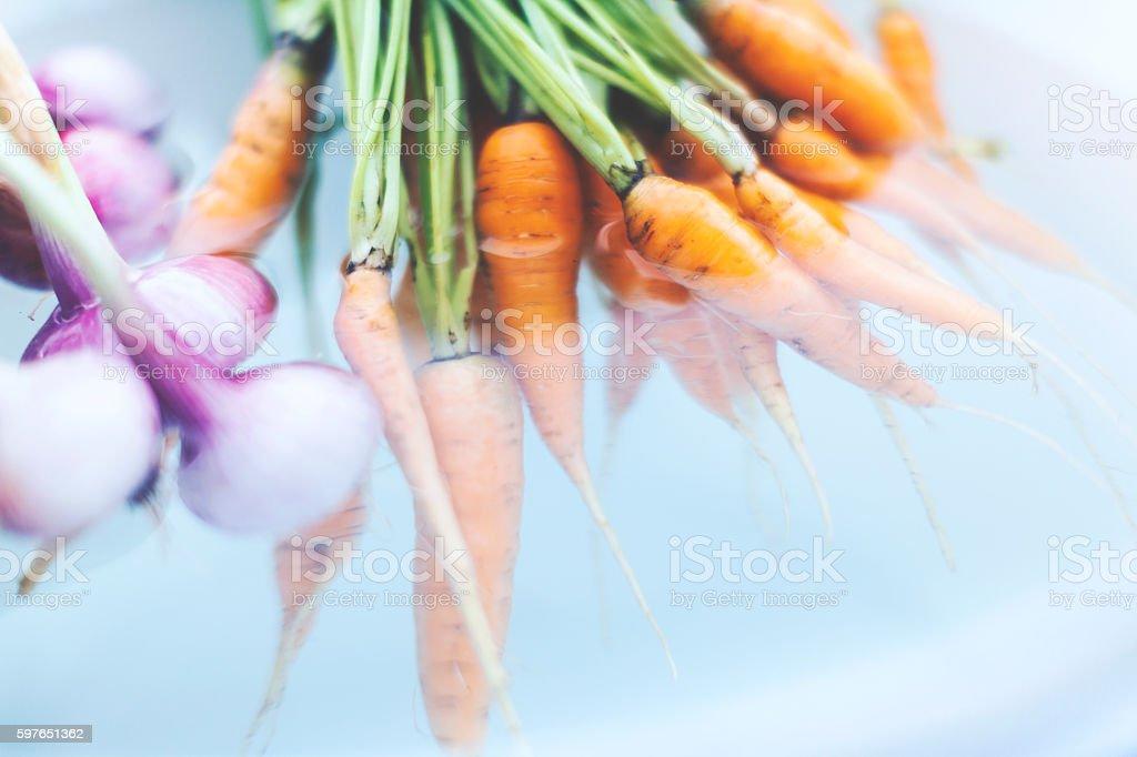 Home Grown Organic Vegetables stock photo