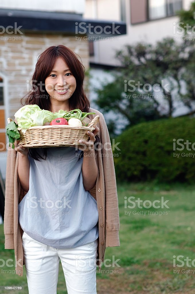 Home grown vegetables royalty-free stock photo