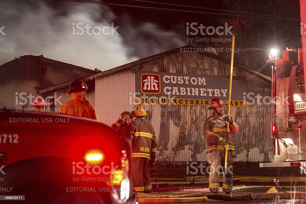 Home Hardware Warehouse Fire stock photo