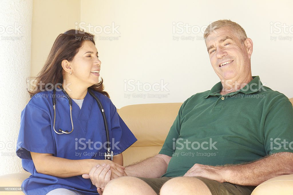 Home Healthcare With Senior Man royalty-free stock photo