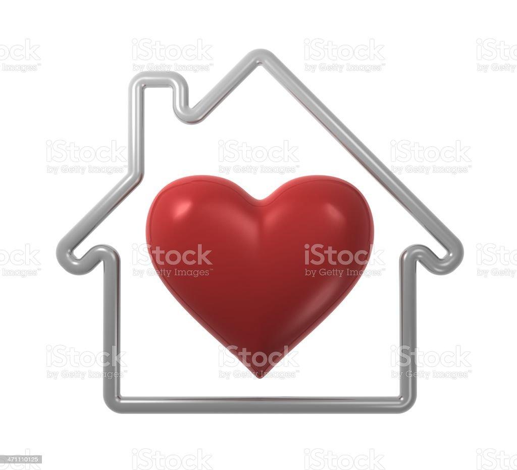 Home Heart royalty-free stock photo