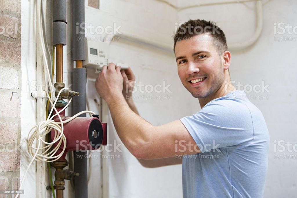 Home Heating Repairs stock photo