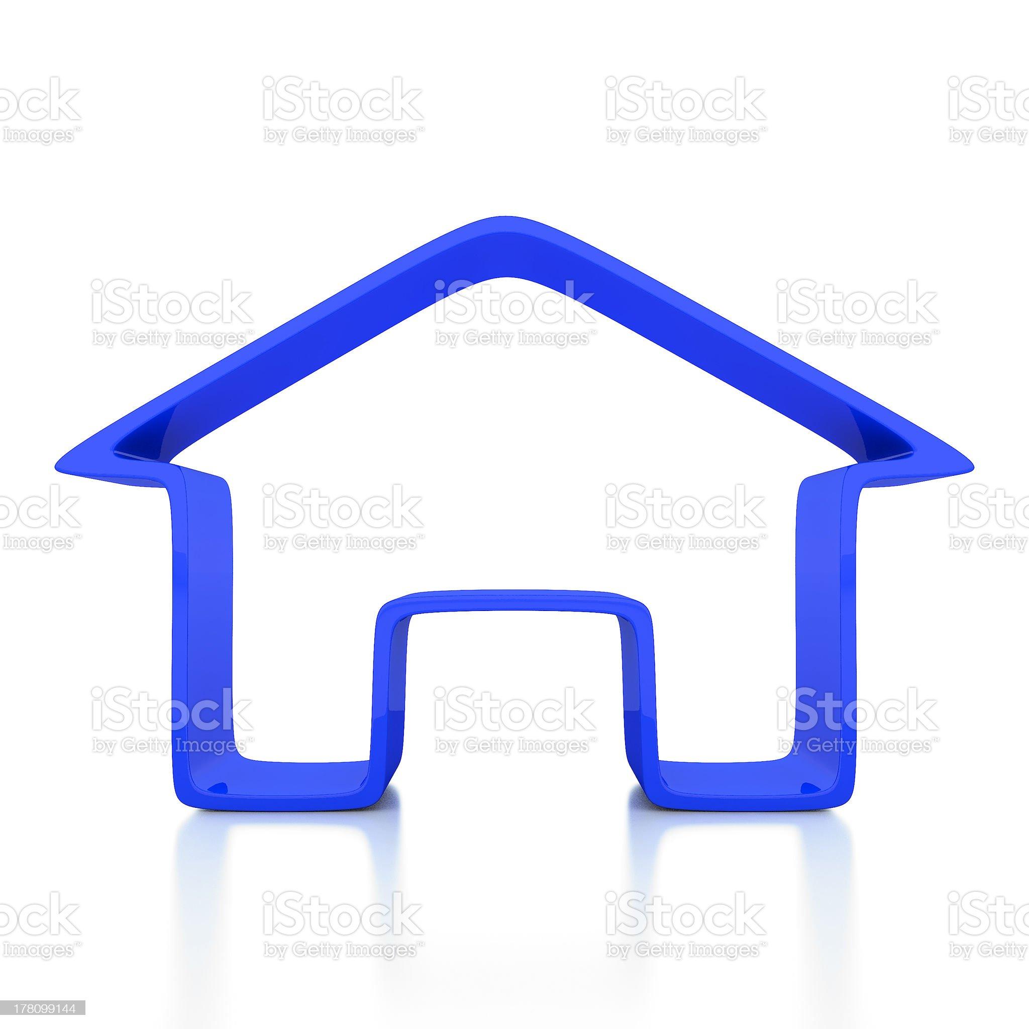 Home icon 3d illustrator royalty-free stock photo