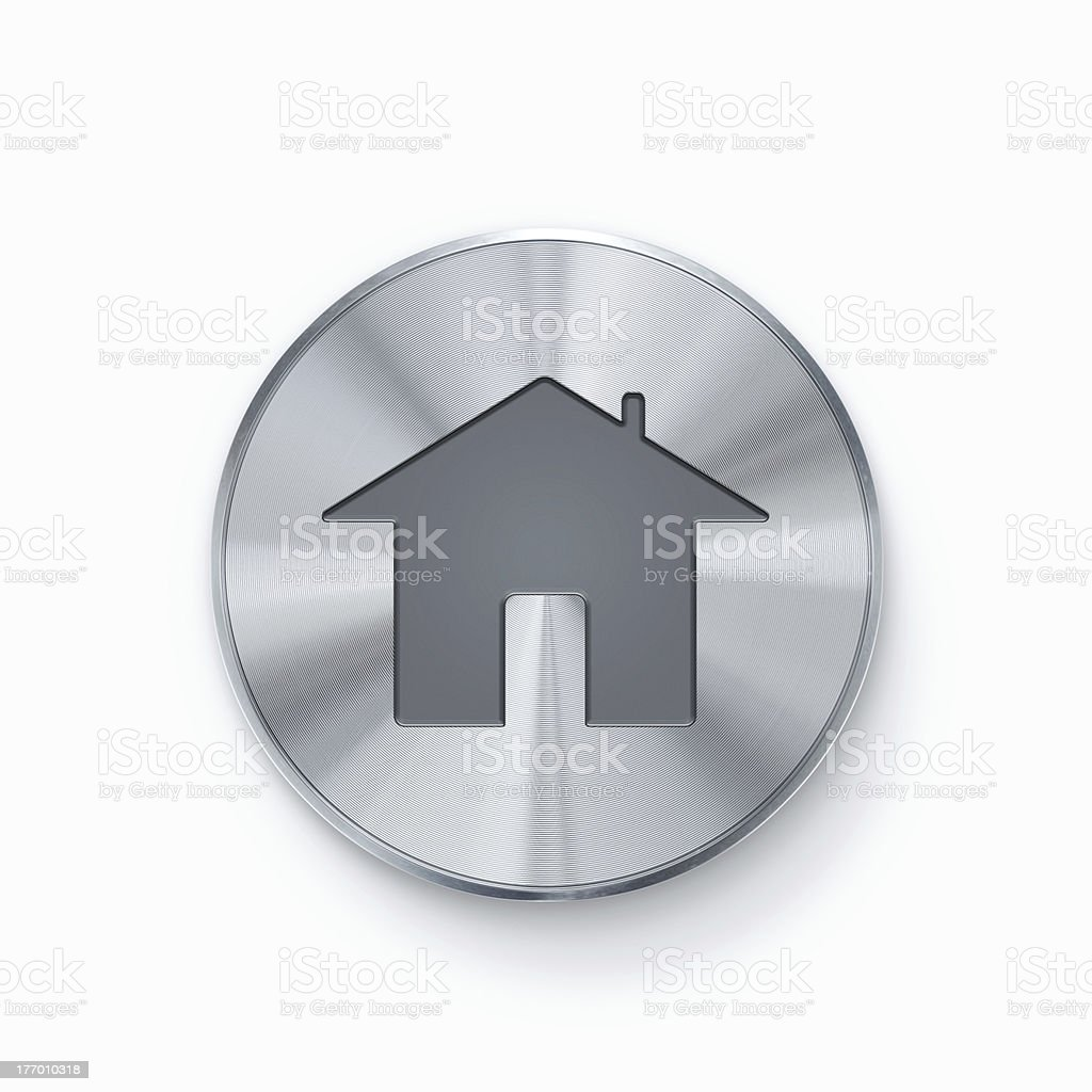 Home icon button royalty-free stock photo