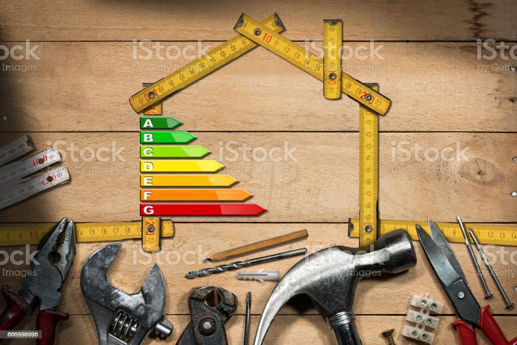 Home Improvement Concept - Energy Efficiency stock photo
