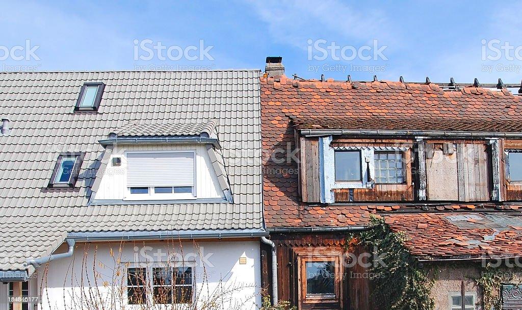 Home improvement - Modernisierung vorher nachher stock photo