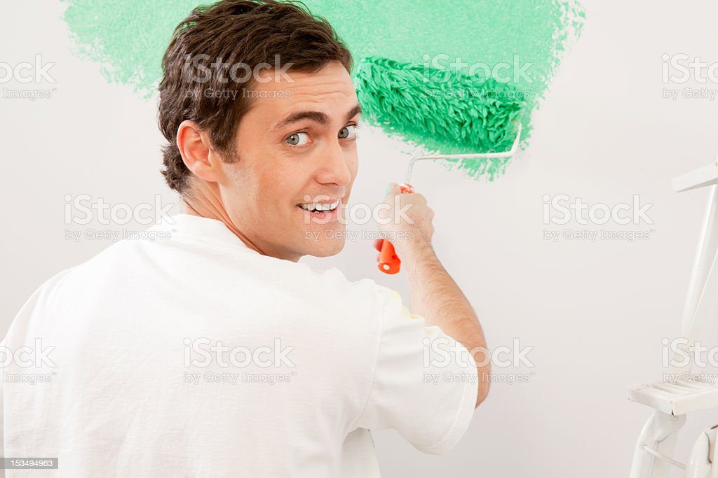 Home Improvement - Paint Wall royalty-free stock photo