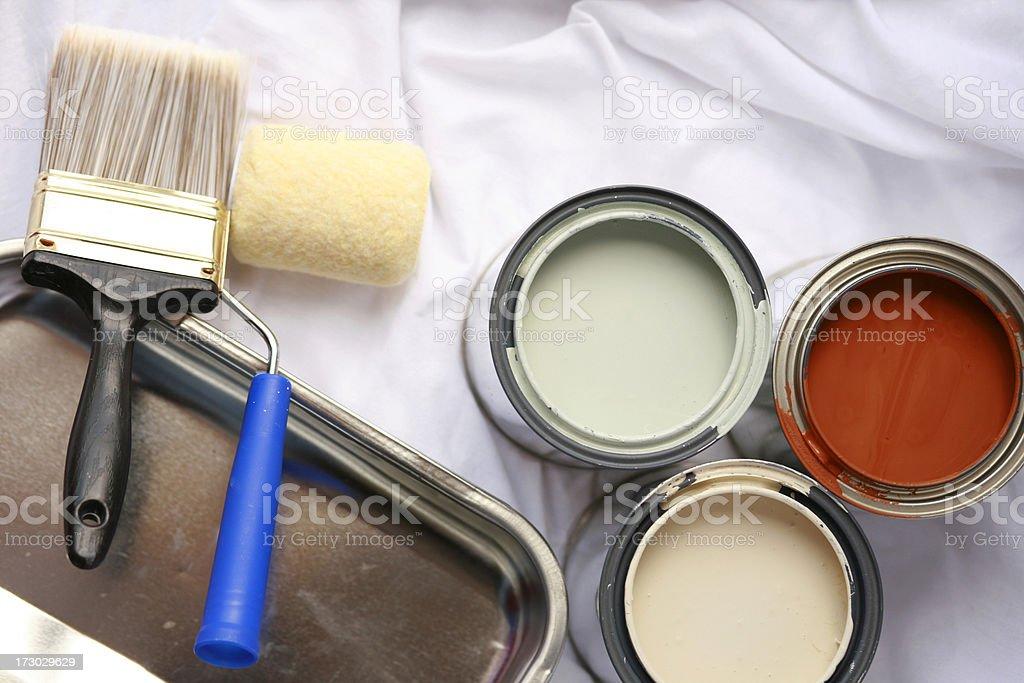 Home Improvement: Painting Series stock photo