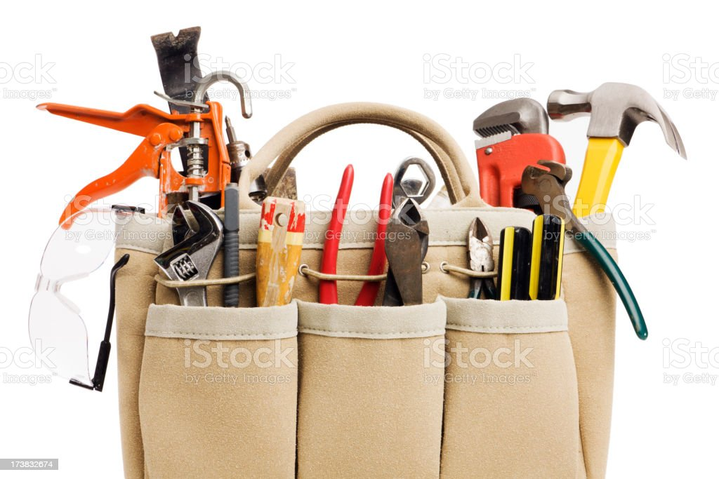 Home Improvement, Repair and Maintenance Tool Kit for Handyman Project stock photo