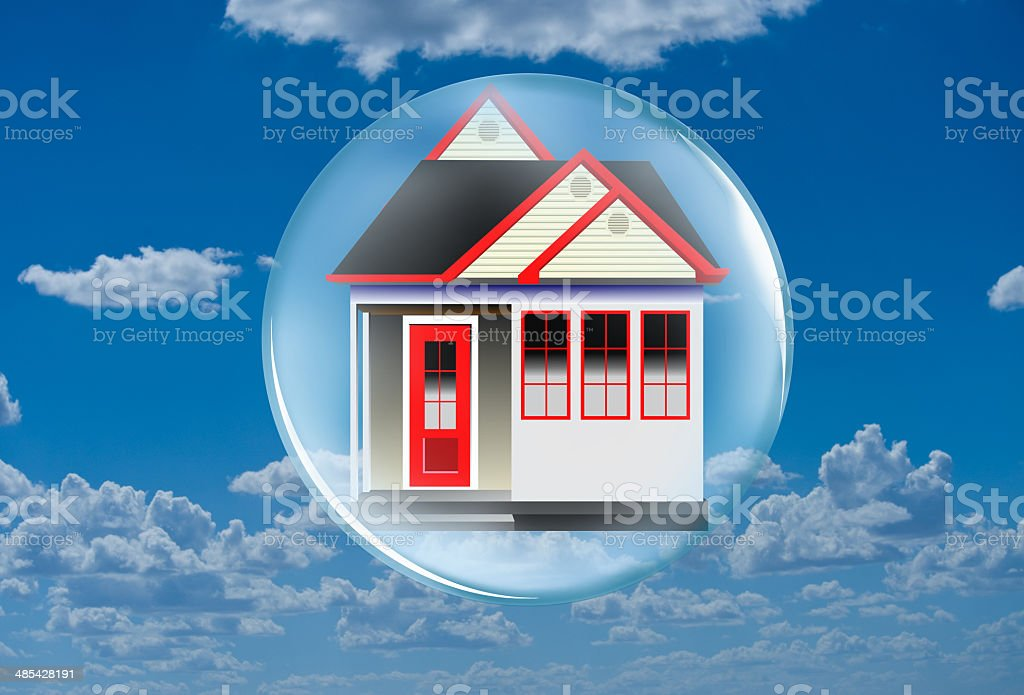 Home in a Bubble. stock photo