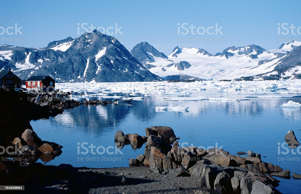 Home in Greenland stock photo