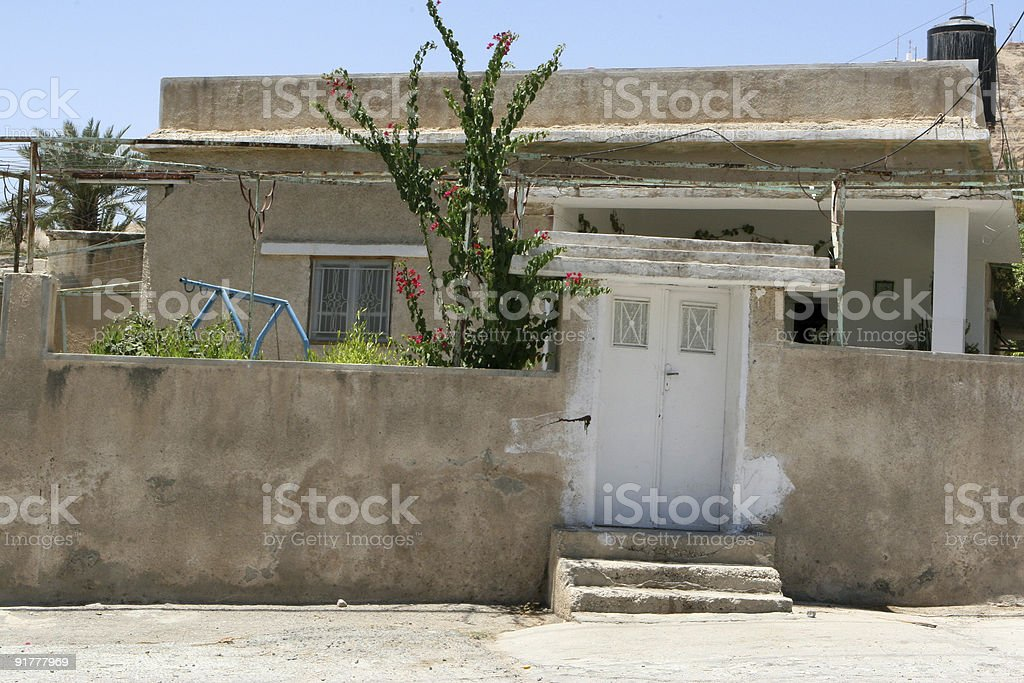 Home In Old Jericho, Israel royalty-free stock photo