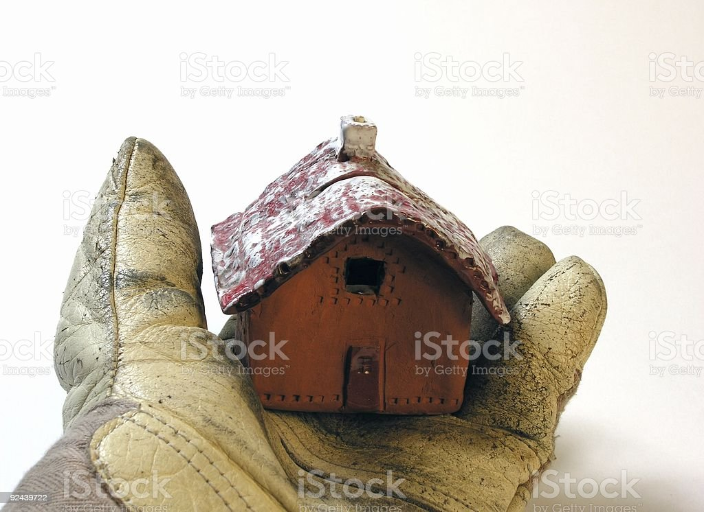 Home in one Hand royalty-free stock photo
