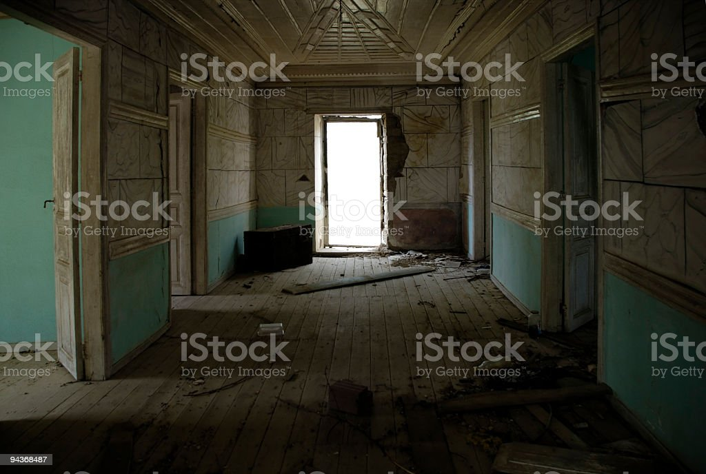 Home in Ruins stock photo