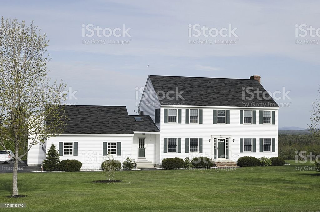Home in the country royalty-free stock photo