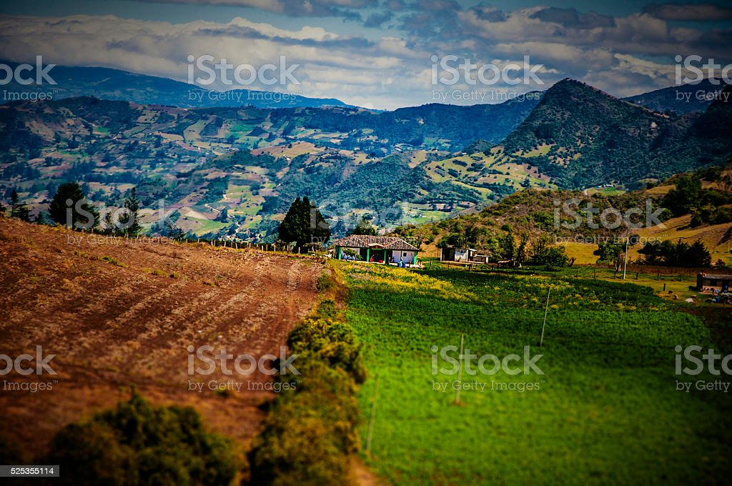 Home in the Mountains stock photo