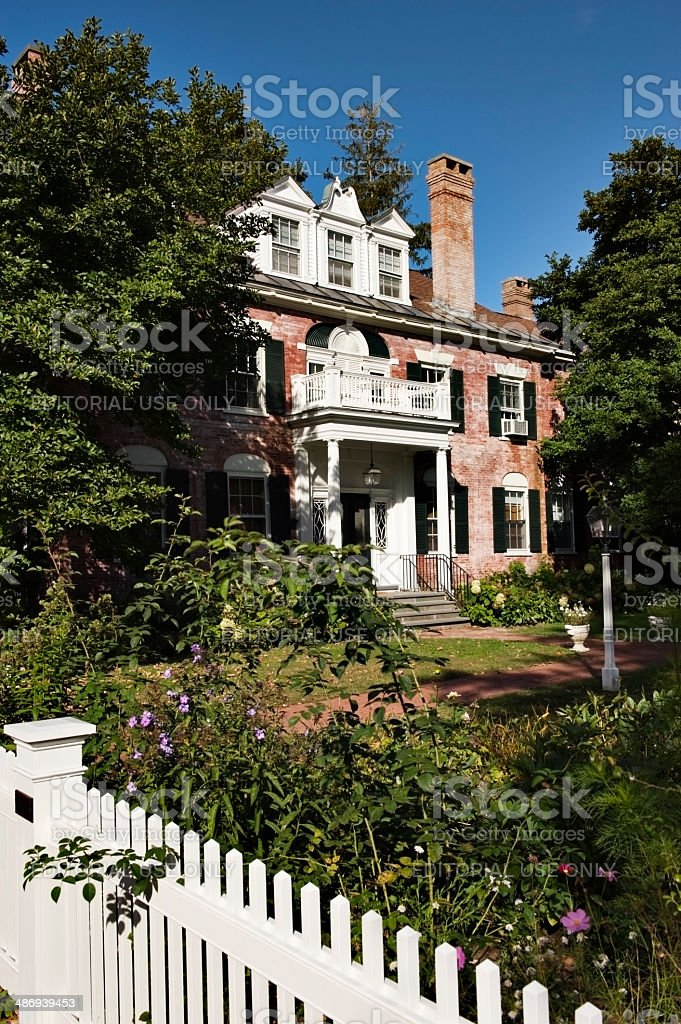 Home in Woodstock Vermont stock photo