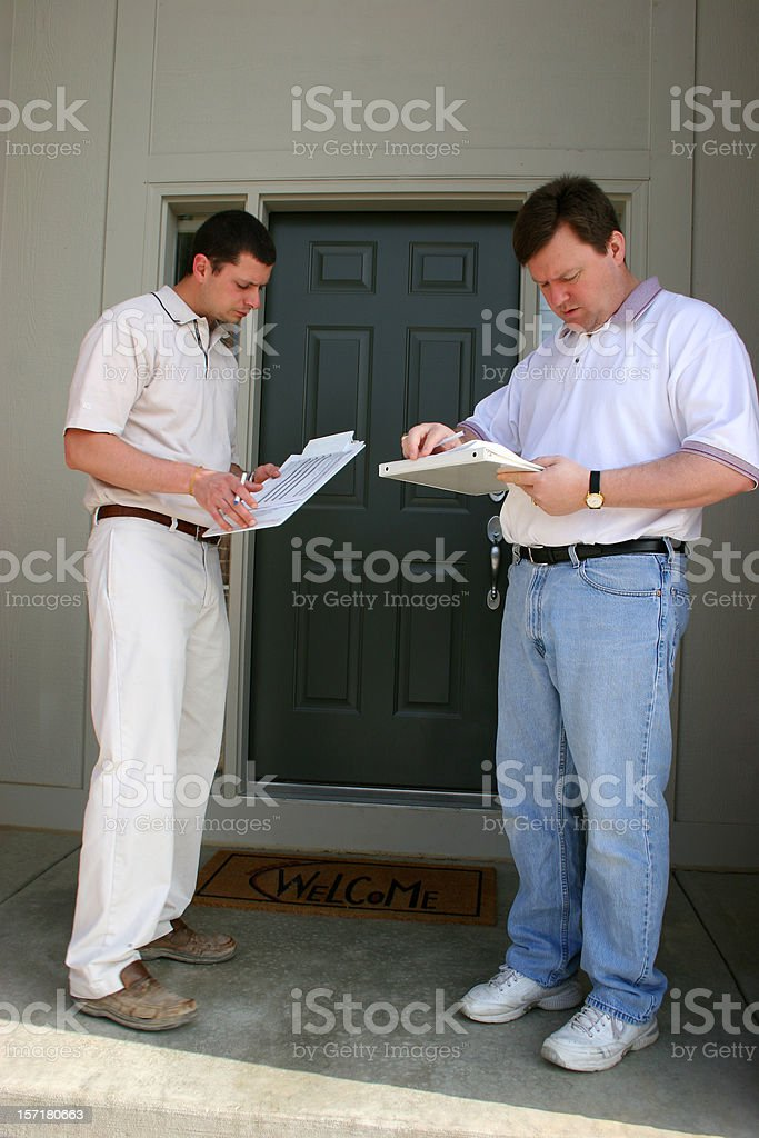 Home Inspection 2 Vertical stock photo