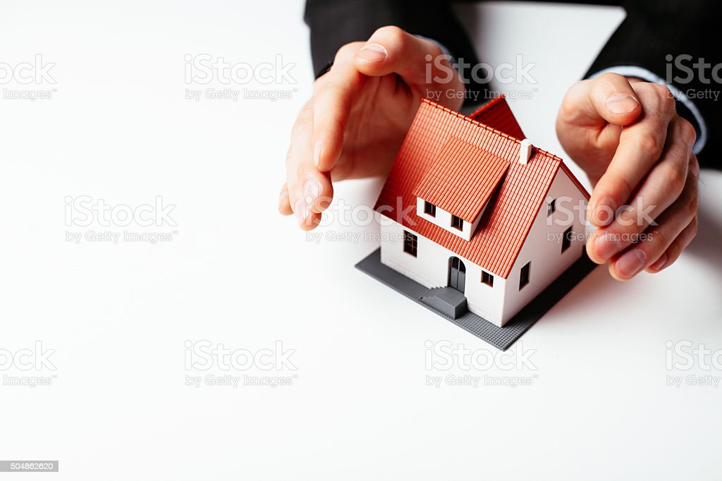 Home insurance concept stock photo