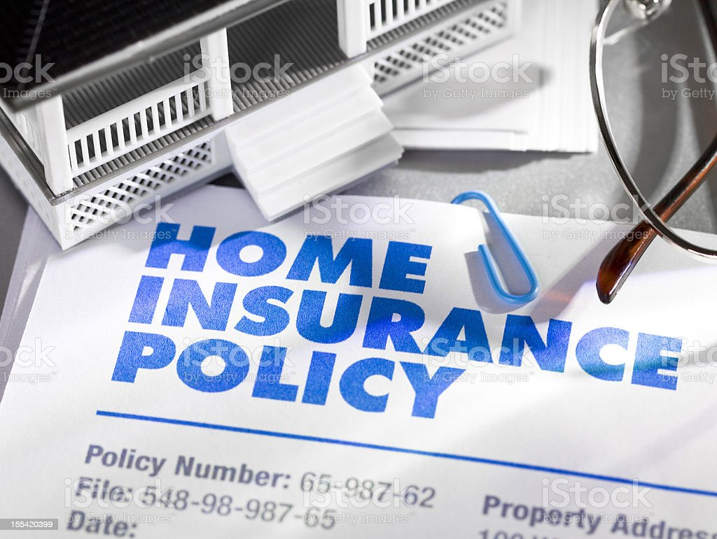 Home Insurance Policy stock photo