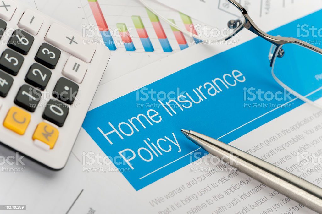Home insurance policy royalty-free stock photo