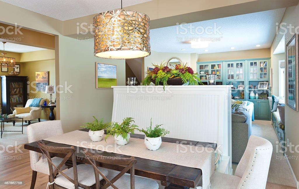 Casa De Diseño Interior Con Comedor Sala De Estar Estudio De La ...