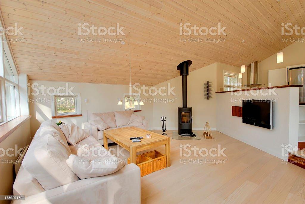 Home interior of modern living room stock photo
