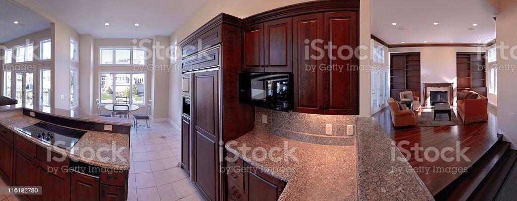Home interior panoramic royalty-free stock photo