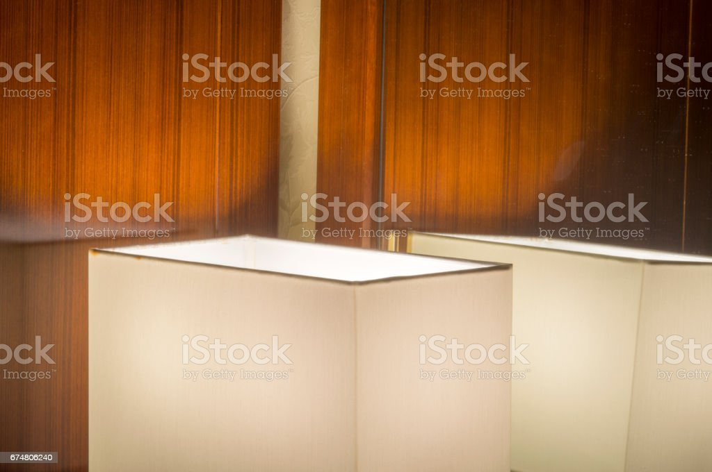 Home interior with  lamp stock photo