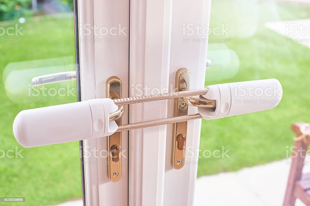 Home invasion protection stock photo