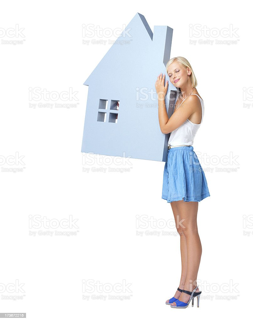 Home is where I'm happiest royalty-free stock photo