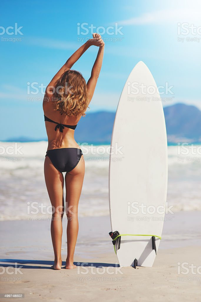 Home is where the waves are stock photo