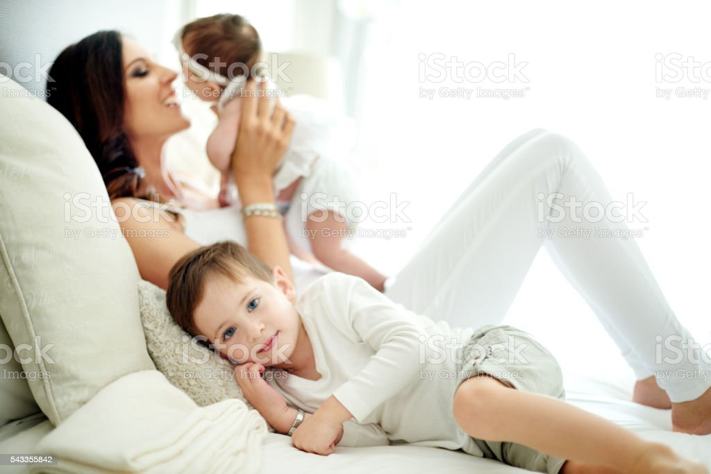 Home is wherever Mom is stock photo